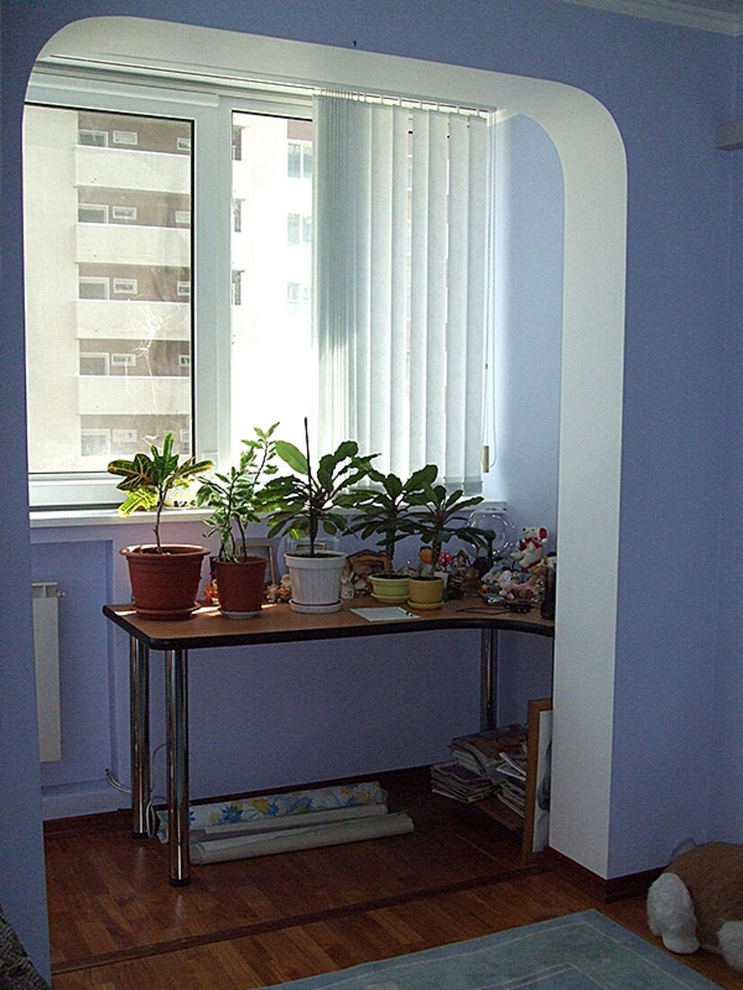 Соединение, объединение балкона с комнатой, кухней евробалко.