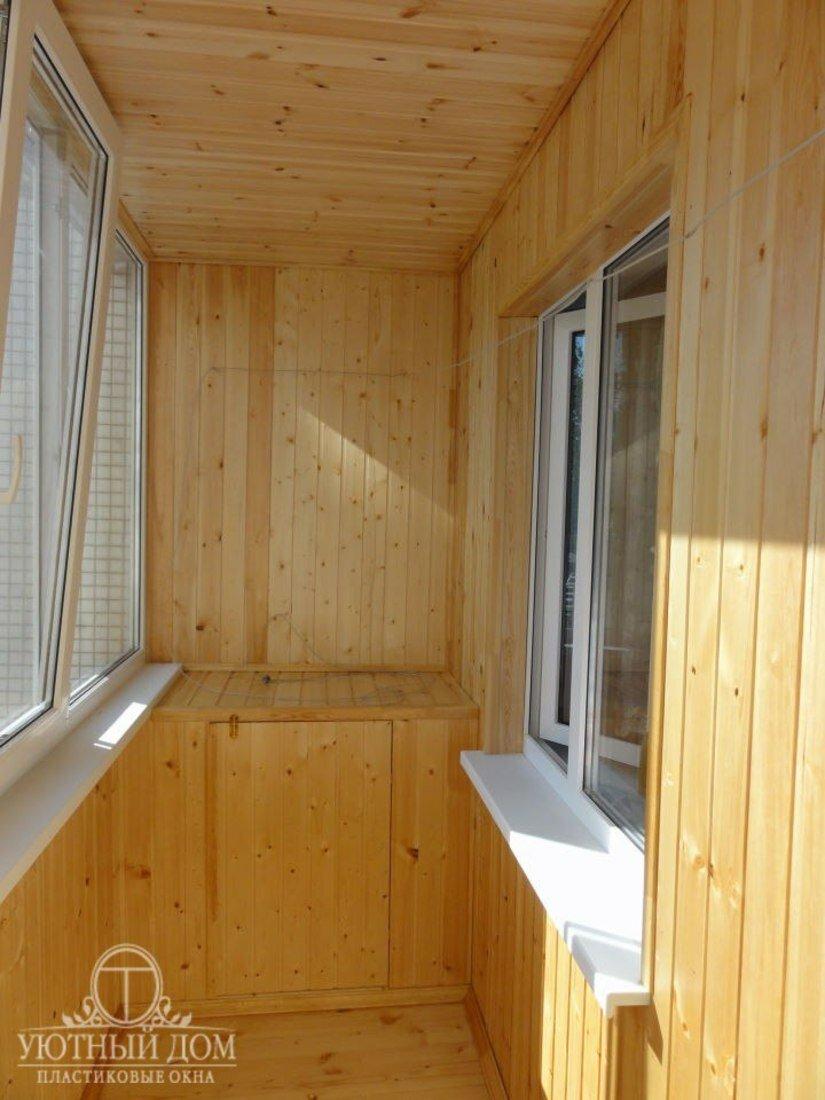 Обшивка балконов и лоджий.
